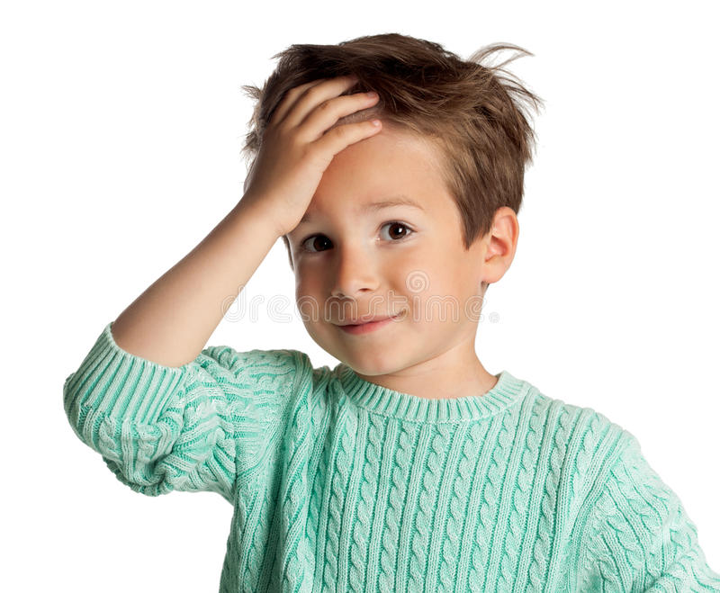 Five Year Old Boy royalty free stock photo