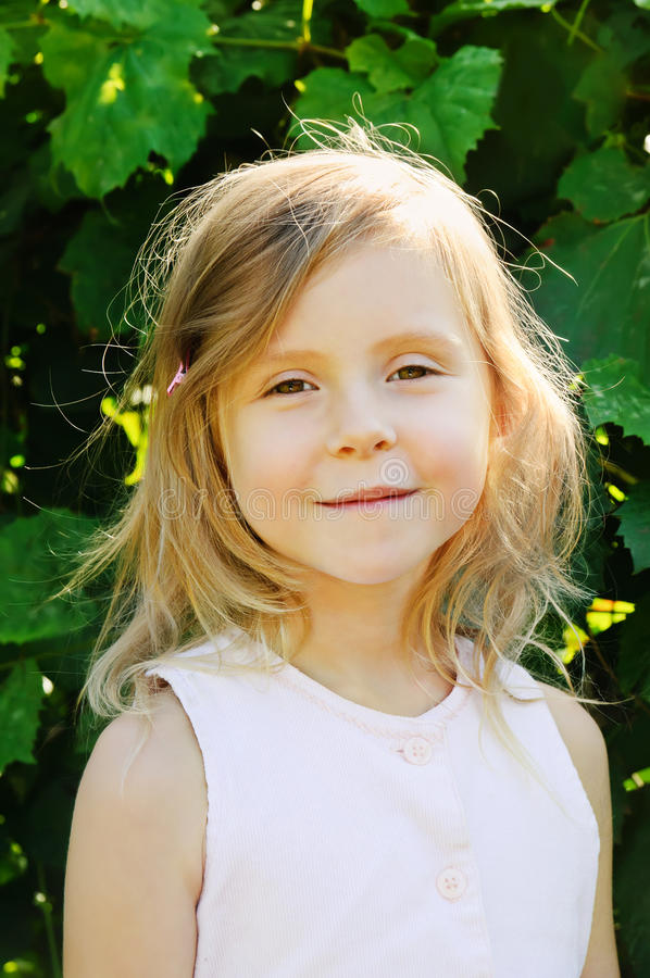 Five years old girl royalty free stock photography