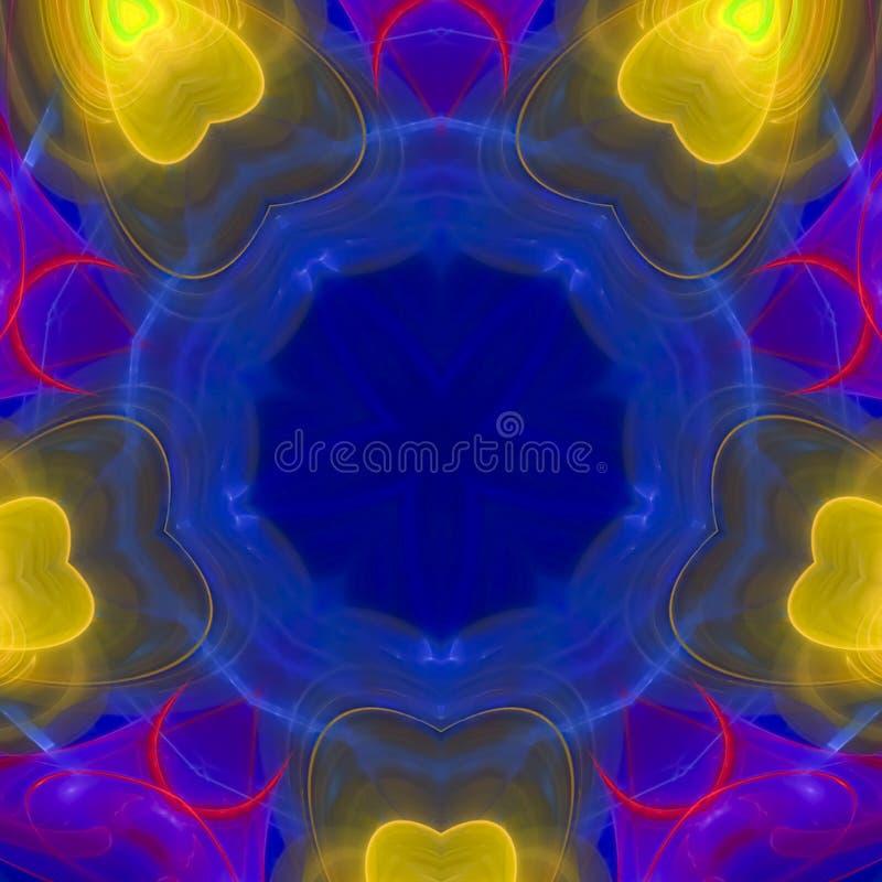 Five yellow hearts royalty free illustration