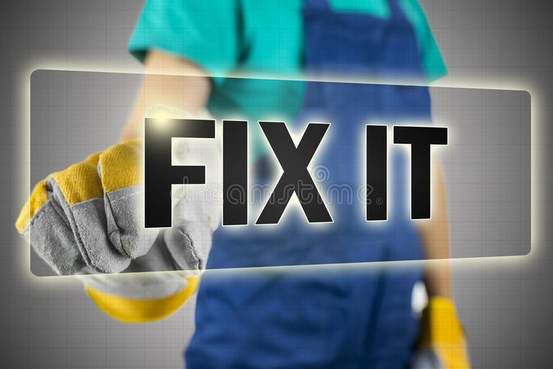 Fix it button royalty free stock images