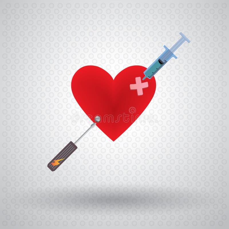 Fix Heart shape stock illustration