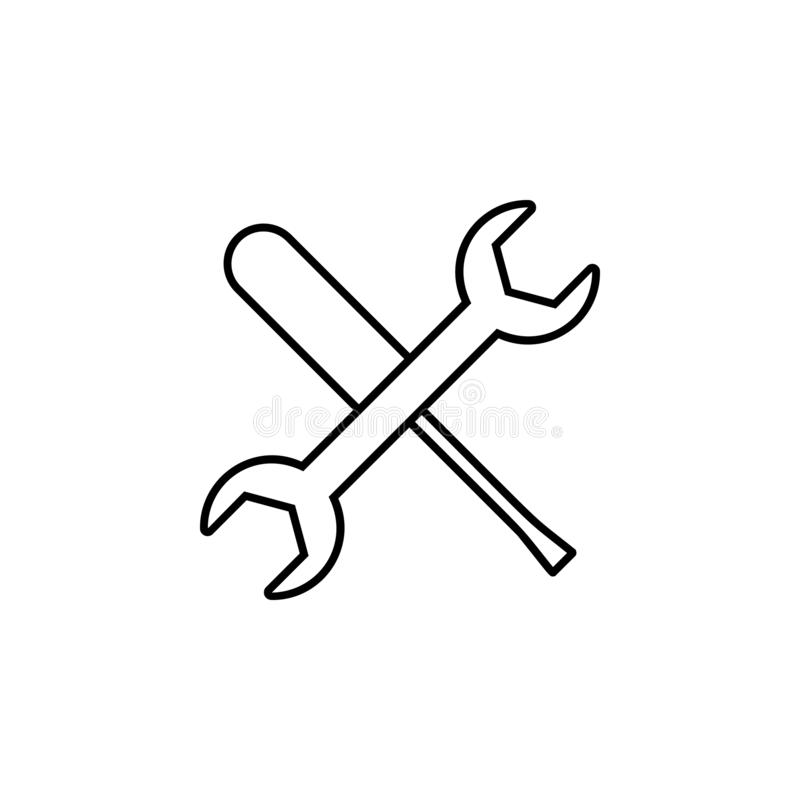 Fix, maintenance icon. Simple outline vector of Web Design Development  set icons for UI and UX, website or mobile application. On white background vector illustration