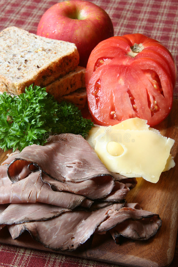 Fixações do sanduíche imagem de stock royalty free
