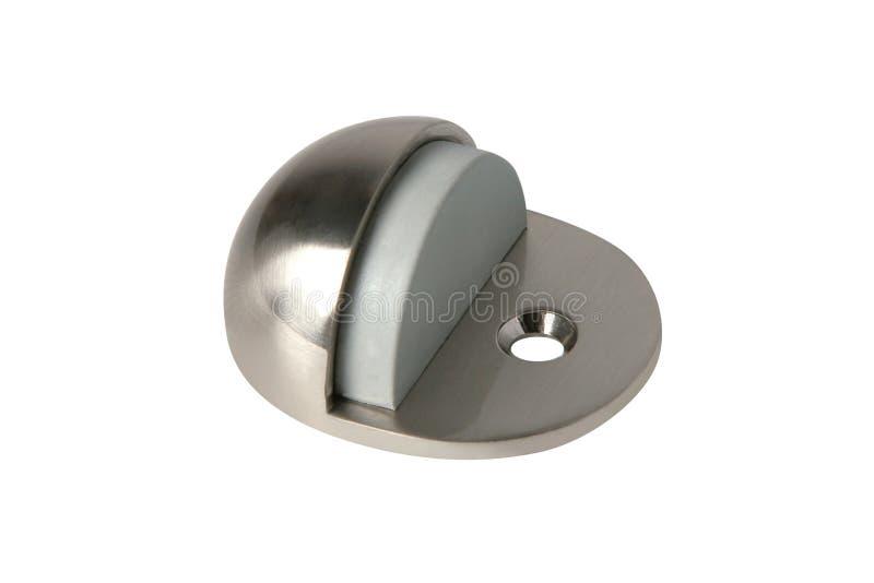 Fixateur de porte de métal, d'isolement sur le fond blanc photos libres de droits