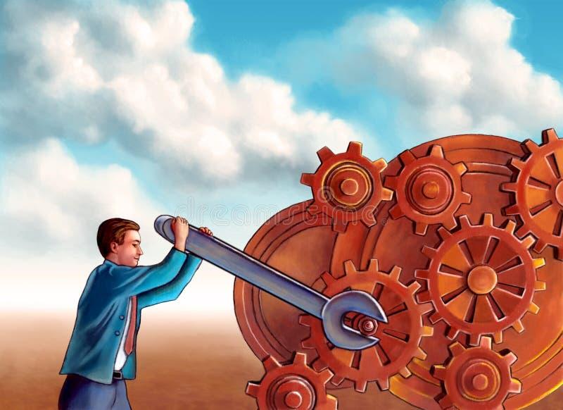 Fixation d'affaires illustration libre de droits