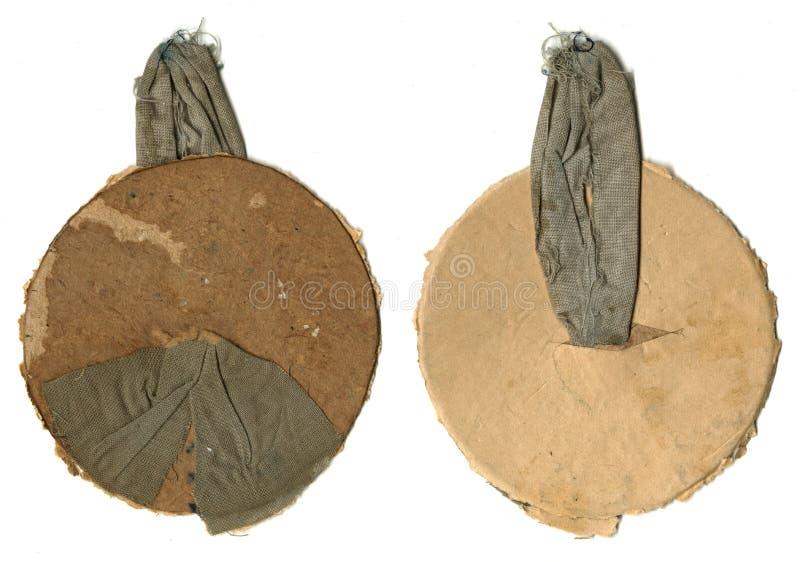 Fixations antiques de vintage vieilles pour le modèle accrochant tissu et carton La boucle sur le crochet illustration libre de droits