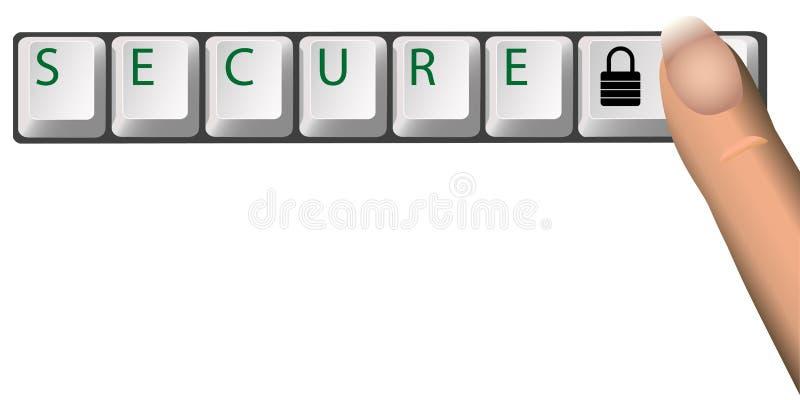 FIXE a chave de fechamento do teclado ilustração do vetor