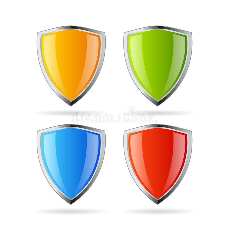 Fixe o ícone do protetor ilustração royalty free