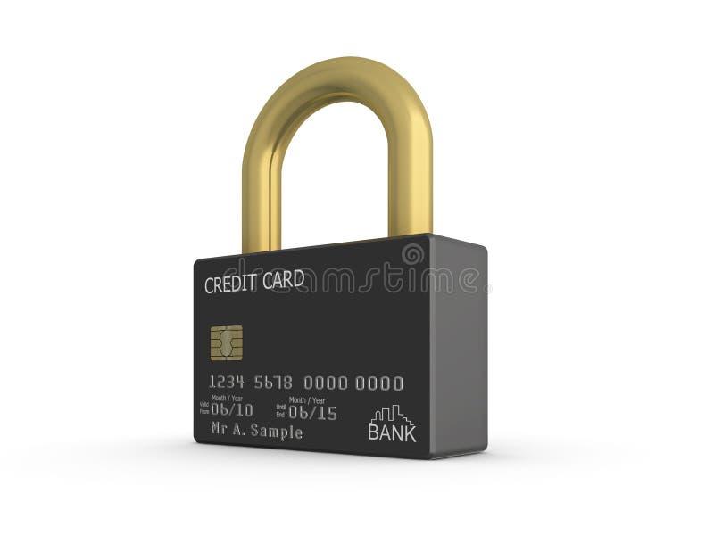 Fixe o cartão de crédito imagens de stock