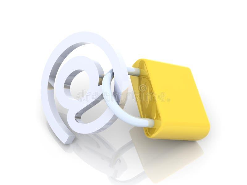 Fixe o email ilustração stock