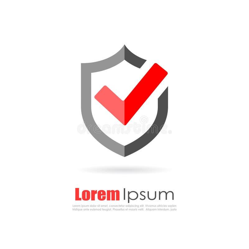 Fixe o logotipo abstrato ilustração stock