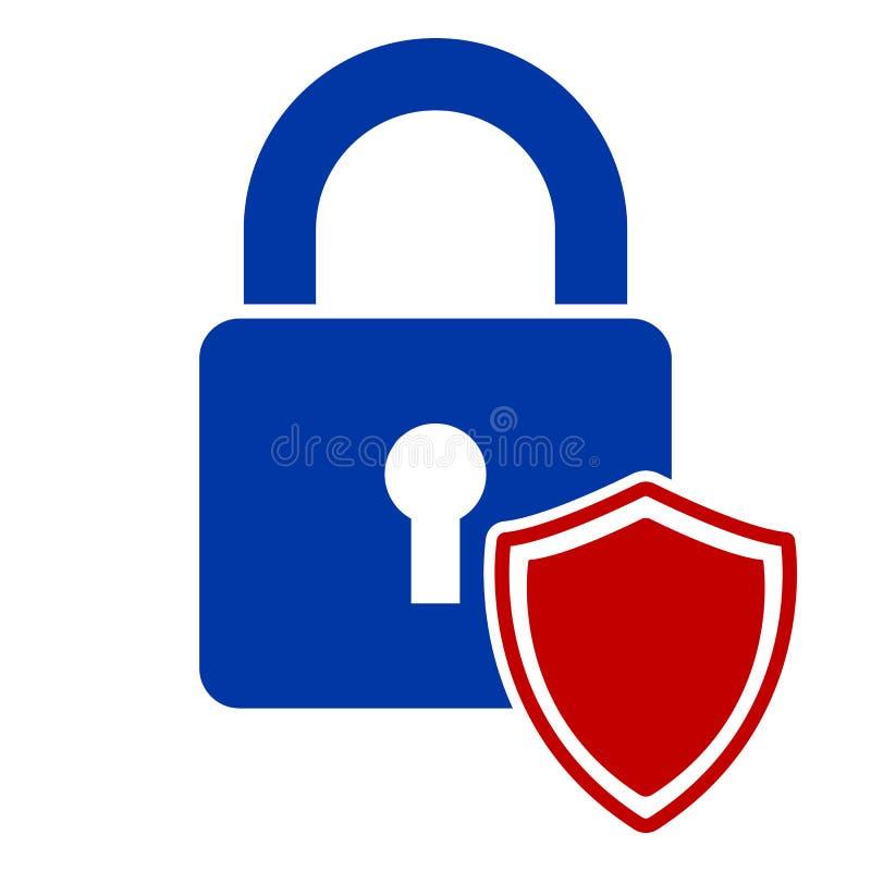 Fixe o logotipo abstrato da proteção ícone do fechamento do protetor do vetor ilustração royalty free