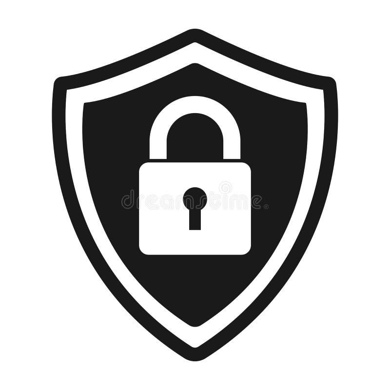 Fixe o logotipo abstrato da proteção ícone do fechamento do protetor do vetor ilustração stock