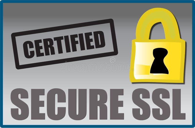 Fixe o logotipo do SSL ilustração do vetor