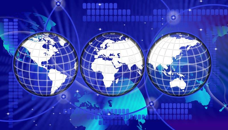 Fixe a tecnologia da informação global ilustração royalty free