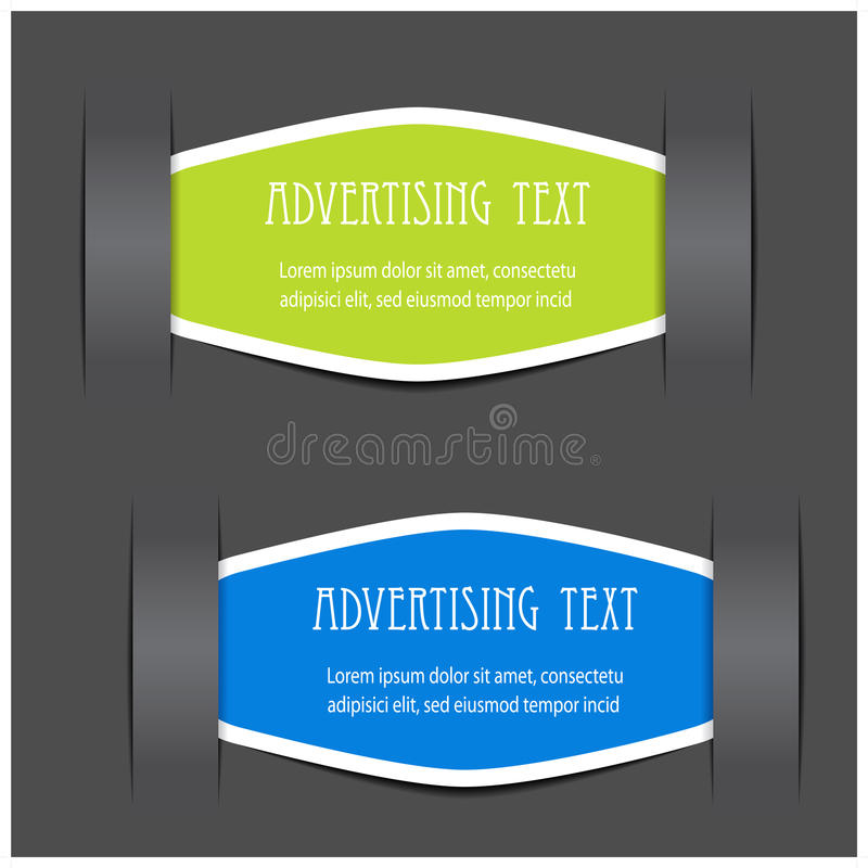 Download Fixed Labels For Advertising Text Stock Vector - Image: 22458938