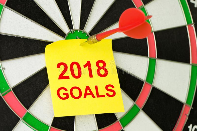 Fixez 2018 buts images libres de droits