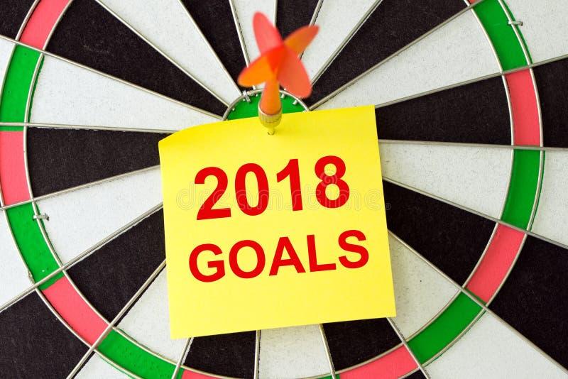 Fixez 2018 buts image libre de droits