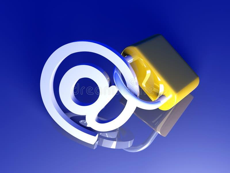 Fixez l'email illustration libre de droits