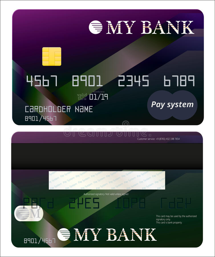 Fixez la carte de banque photo libre de droits