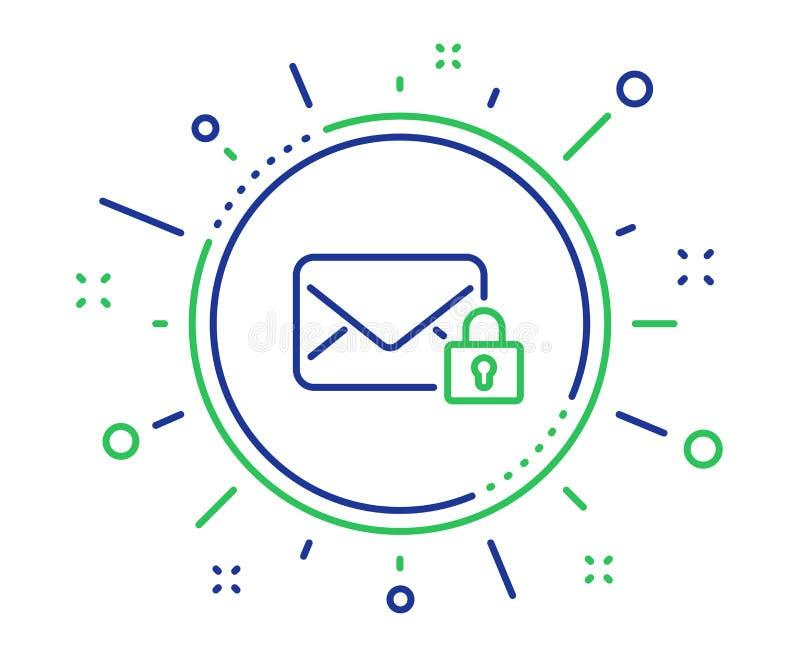 Fixez la ligne ic?ne de courrier Signe priv? de correspondance de message Vecteur illustration libre de droits