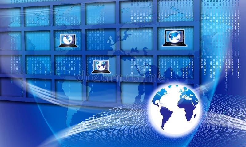 Fixez la technologie informatique globale illustration de vecteur