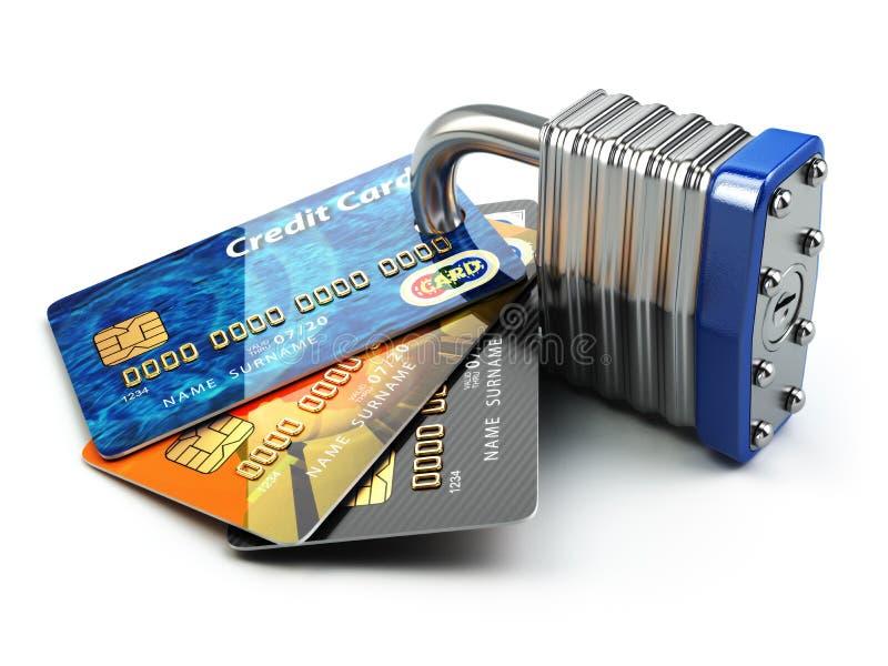 Fixez le concept en ligne d'achats d'Internet de paiement Cartes de crédit a illustration libre de droits