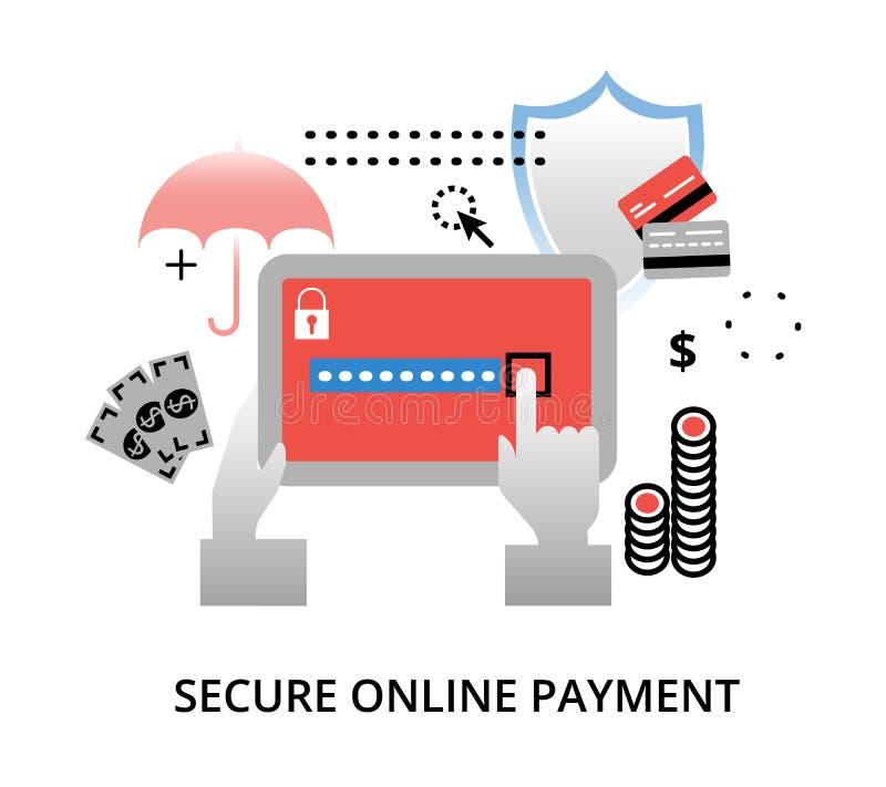 Fixez le concept en ligne de paiement illustration de vecteur