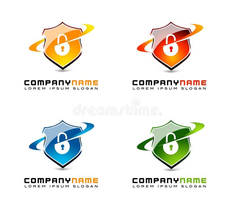 Fixez le logo de bouclier illustration libre de droits