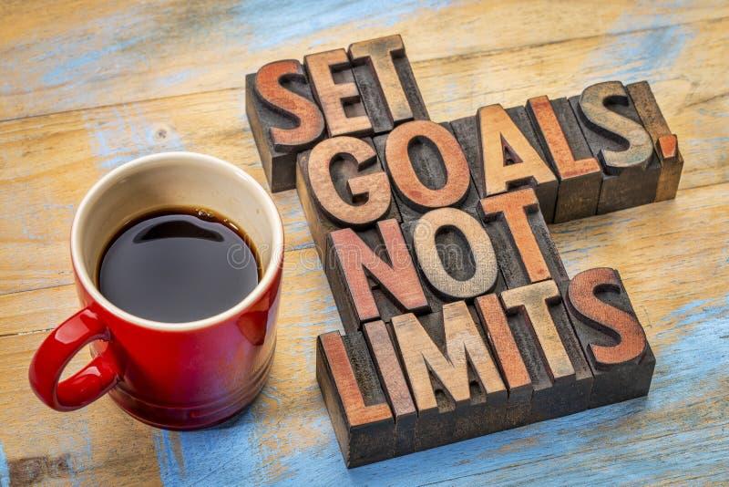Fixez les buts, pas limites image libre de droits