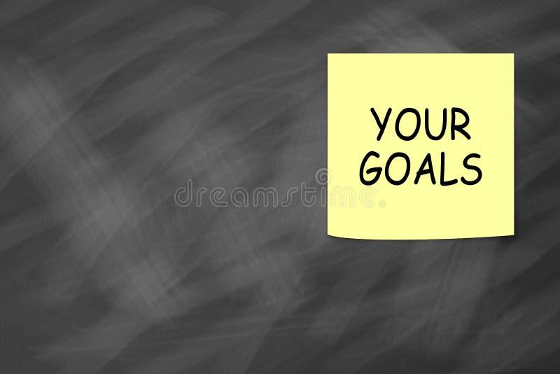 Fixez vos buts images libres de droits