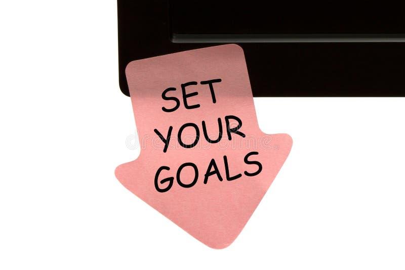 Fixez vos buts photographie stock