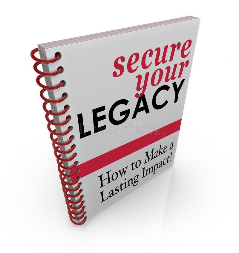 Fixez votre livre de conseil de legs comment protéger des finances de capitaux illustration libre de droits