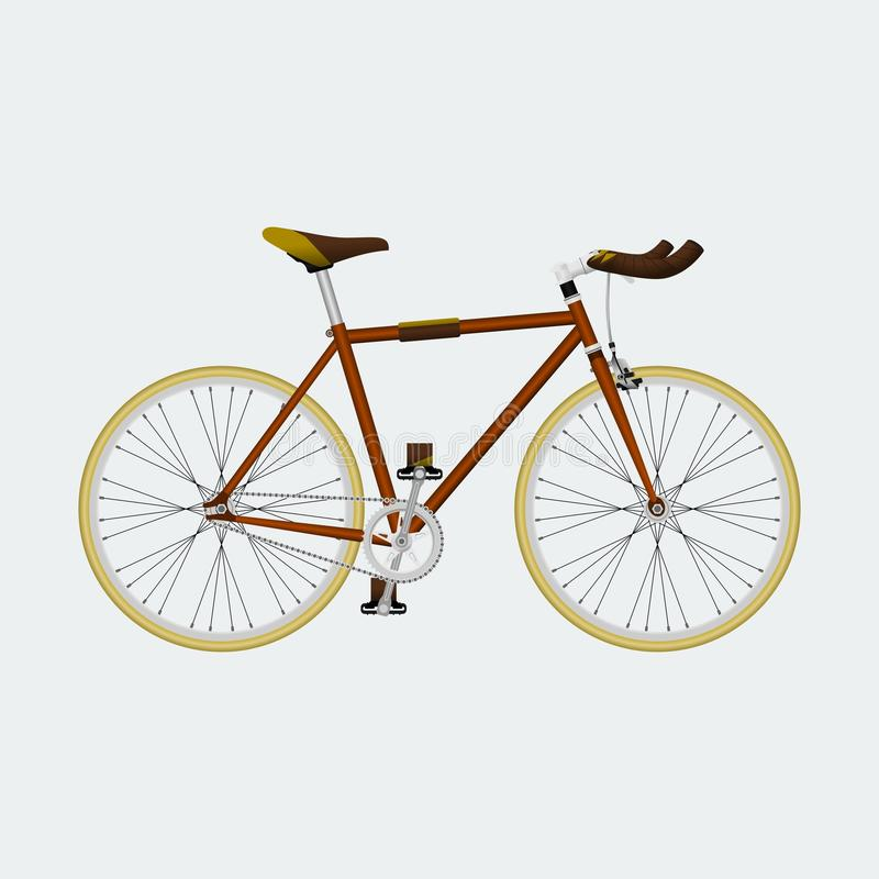 Fixie Bike. Editable Fixie Bike Vector Illustration royalty free illustration