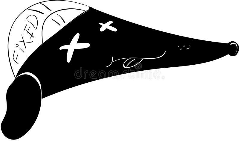 Fixie dålig daghund vektor illustrationer