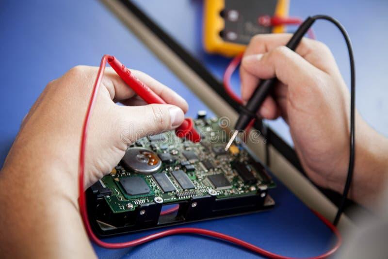 Fixing computer hardware royalty free stock photo