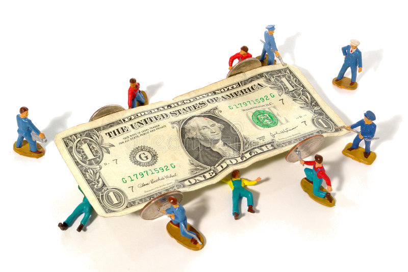 Fixing the Economy Metaphor with Full Service Team royalty free stock photos