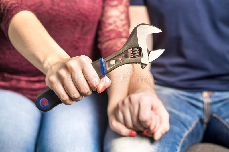 Fixing relationship problems concept. royalty free stock photos