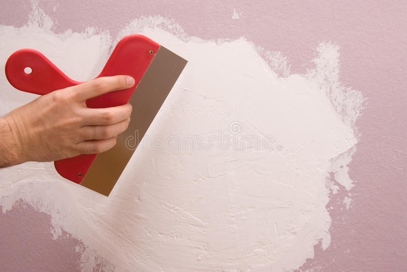 Fixing walls royalty free stock photos