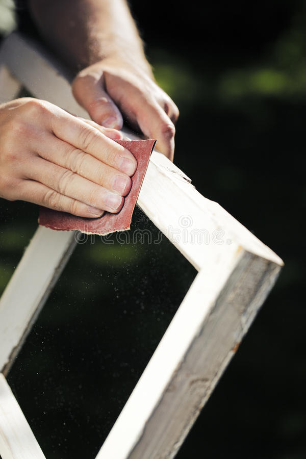Download Fixing the Windows. stock photo. Image of renovations - 21009090