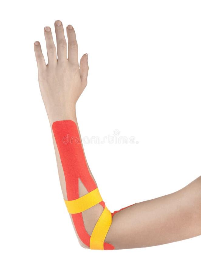 Fizjoterapia dla bólu, obolałość i napięcia łokcia, zdjęcie royalty free