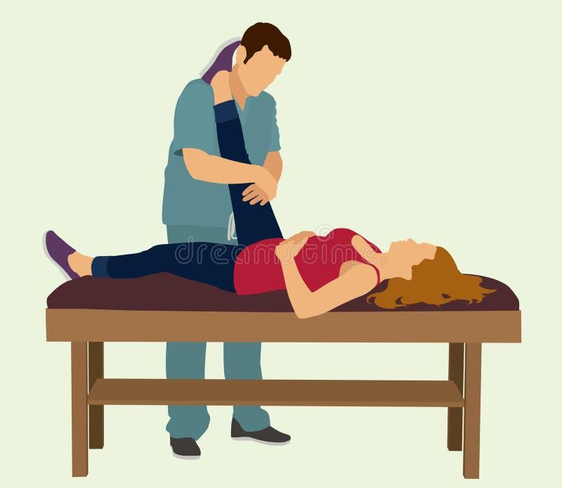Fizyczna terapia ilustracja wektor