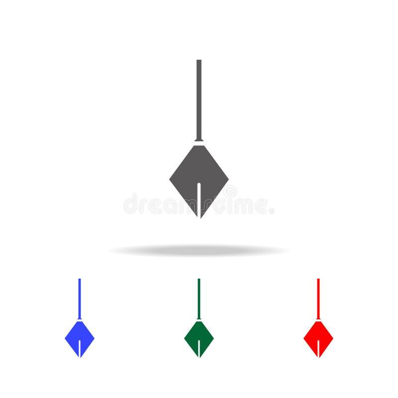 Fizycznego wahadła ikona Elementy budowa wytłaczają wzory wielo- barwione ikony Premii ilości graficznego projekta ikona Prosta i royalty ilustracja