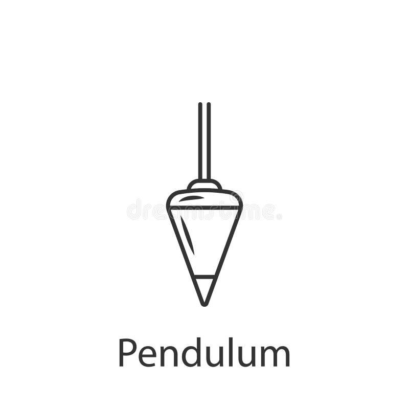 Fizycznego wahadła ikona Prosta element ilustracja Fizycznego wahadła symbolu projekt od budowy kolekci setu może używać ilustracja wektor