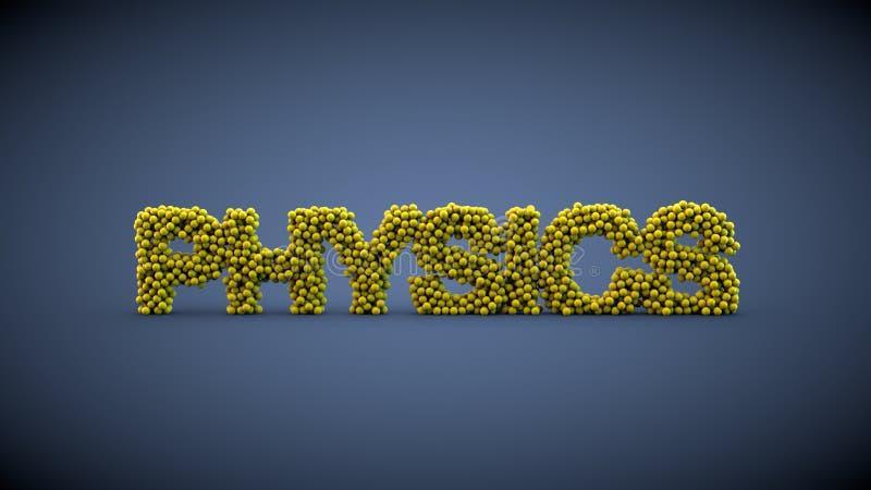 Fizyka formułują robią żółte piłki royalty ilustracja