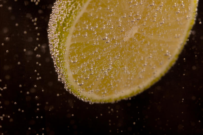 Fizzing Lime Stock Photo