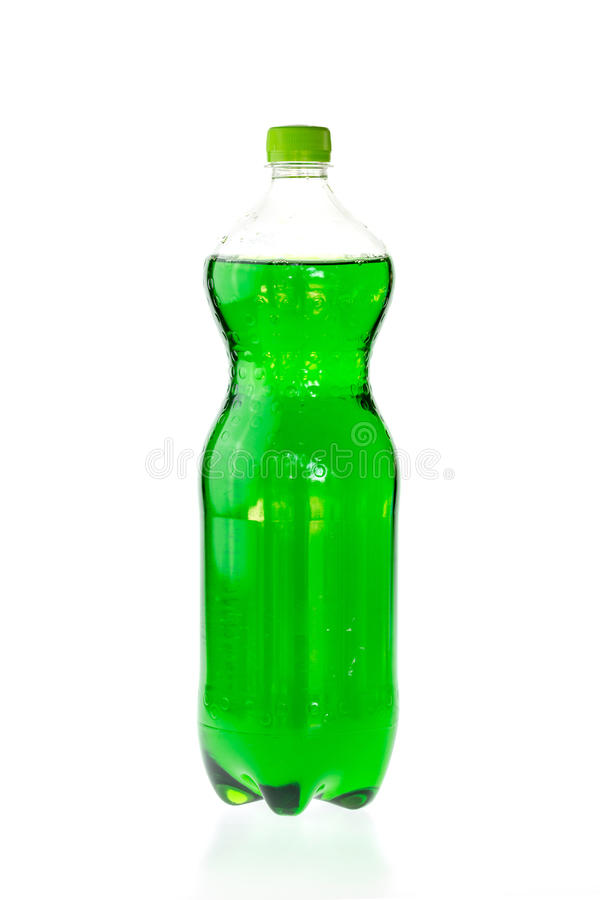 Fizzy drink in a plastic bottle isolated on white. Background stock photos