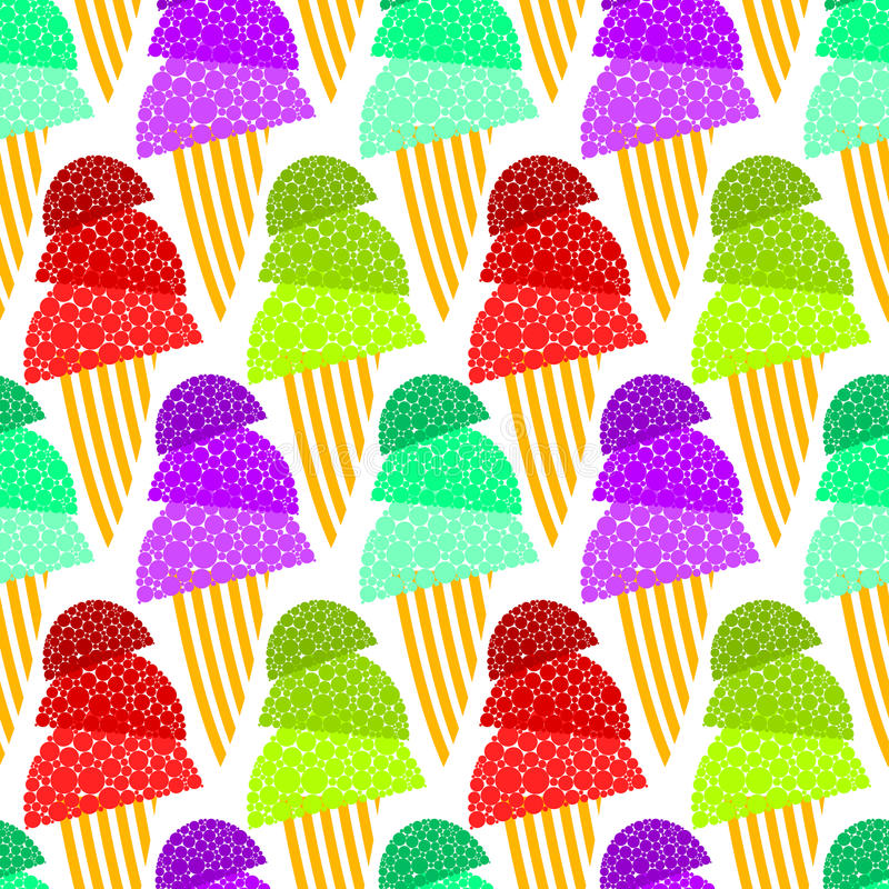 Download Fizzy Ice Cream Cones Seamless Background Royalty Free Stock Photos - Image: 29180018