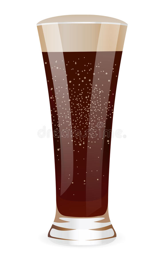 Fizzy water in tall glass royalty free stock photography