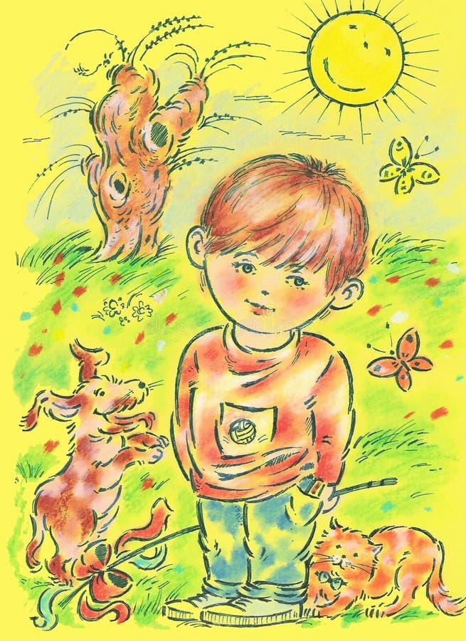 fjäder stock illustrationer
